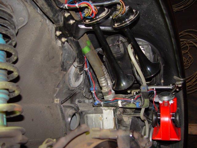 horn installation rennlist porsche discussion forums rh rennlist com Porsche 911 GT3 RS Classic Porsche 911